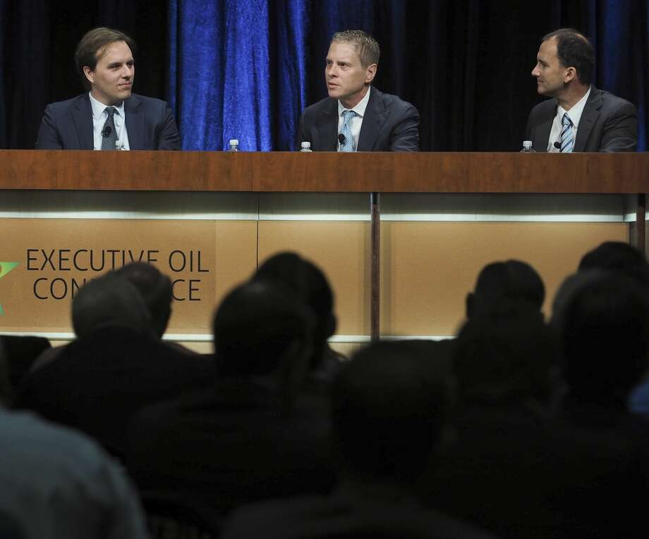 Michael Hanson, Jay Boudreaux and Raoul LeBlanc hold a panel discussion, The Sandbox, 11/07/17 morning at the 2017 Executive Oil Conference. Tim Fischer/Reporter-Telegram Photo: Tim Fischer/Midland Reporter-Telegram