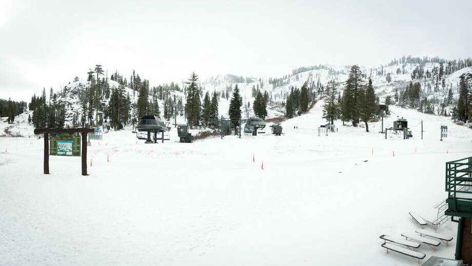 Squaw Valley Alpine Meadows after recent snows on Nov. 4, 2017. Photo: Squaw Valley Alpine Meadows