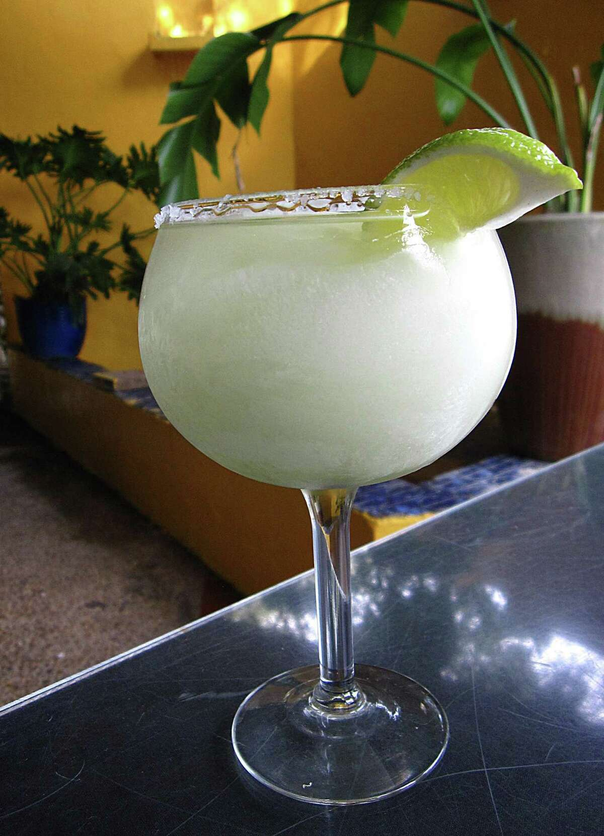 A frozen margarita with an extra shot of top-shelf tequila from El Mirasol, which will open its new location at 938 N. Loop 1604 W. on Monday.