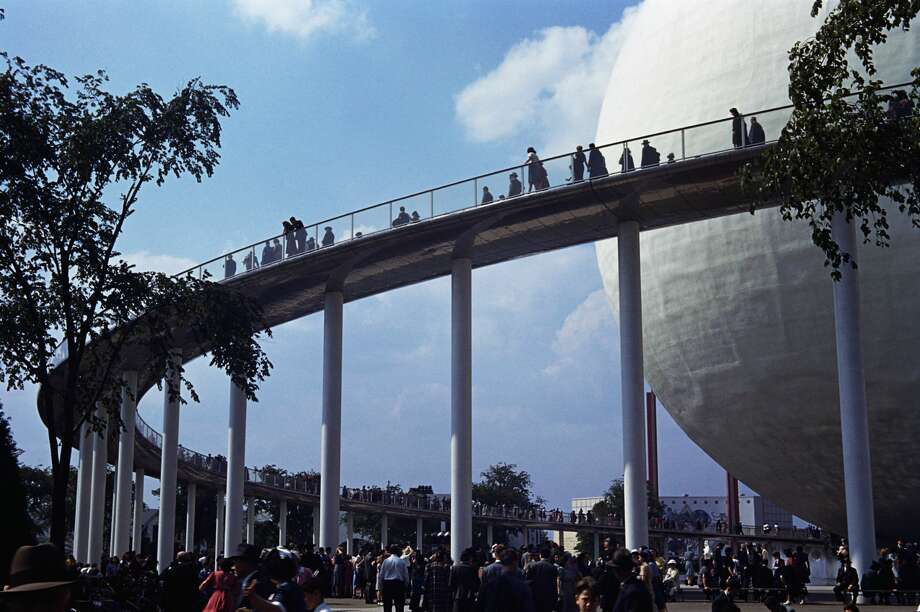 A walkway leads into the Perisphere at the 1939 World's Fair. Photo: Peter Campbell/Corbis Via Getty Images