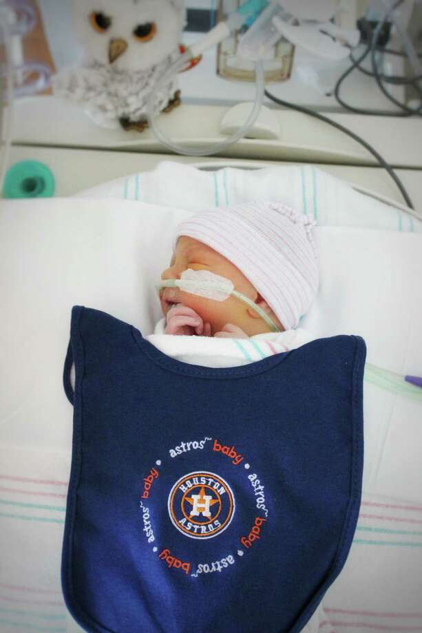 The Astros had some tiny, but loud additions to their cheering section as they won the World Series title.These adorable fans are just some of the little ones born at Memorial Hermann Katy Hospital since the start of the World Series. Pictured here is Caelum Jarvis. Photo: Memorial Hermann Katy