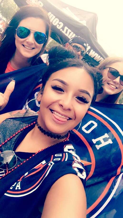 Following the Astros winning the World Series Championship, fans from around the world shared photos of themselves in their championship gear withChron.com. Photo: Trish Dove, Beatbox Portraits