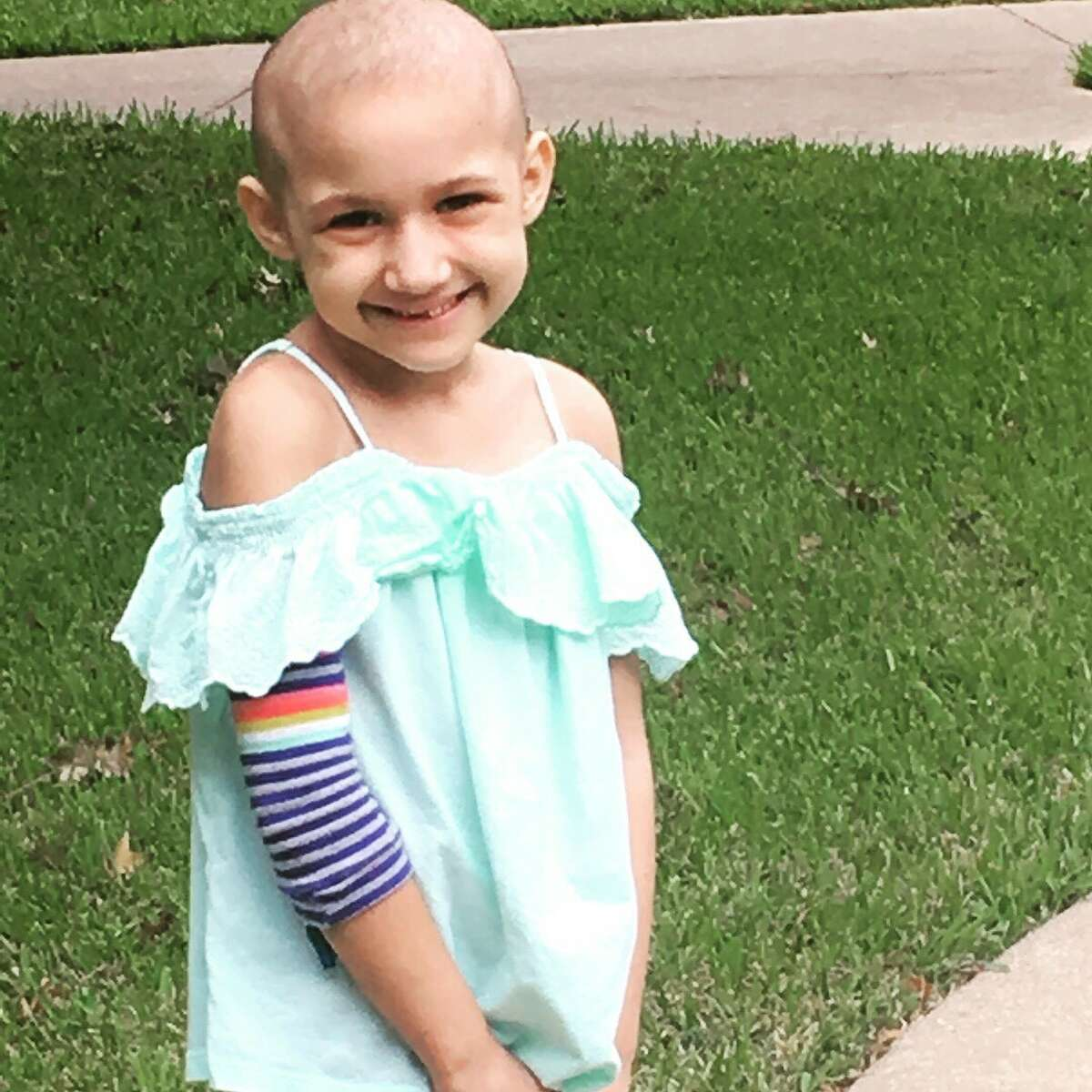 Susana Obregon, 7, suffers from Acute Lymphoblastic Leukemia but is receiving treatment atTexas Children�'s Hospital in Houston.