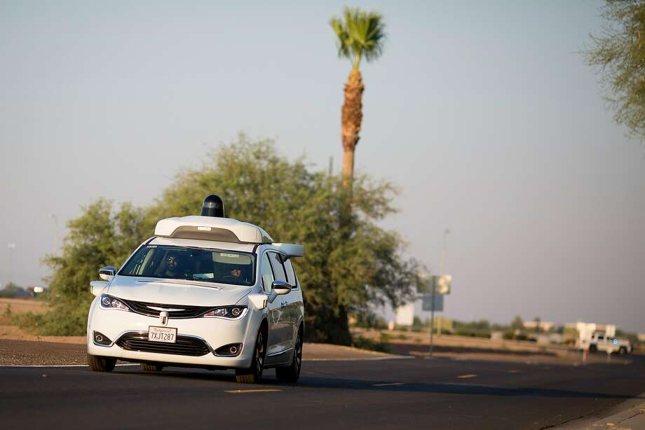 Waymo demonstrates its driverless technology at a media event in Chandler in June. The company will soon offer rides to the public without a human back-up driver in front. Photo: CAITLIN O'HARA, NYT