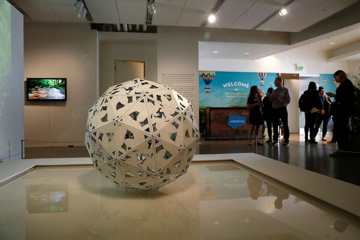 Most art was removed on the second floor but some artwork did remain at The Museum of African Diaspora during the Dreamforce conference on Tuesday, November 7, 2017, in San Francisco, Calif.