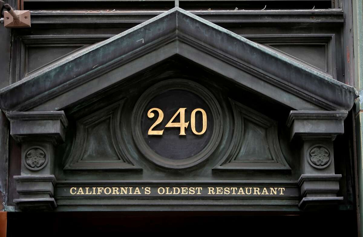 The Tadich Grill on California St. in San Francisco, Calif. on Tues. October 27, 2015, where a sign over the front door reads California's Oldest Restaurant.