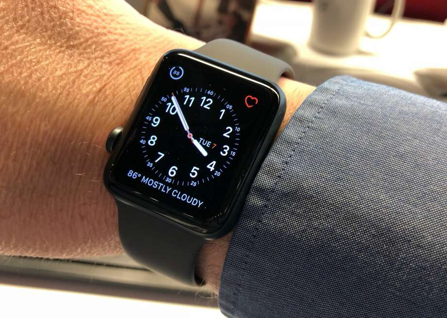 The Apple Watch Series 3 with LTE. Apple has increasingly positioned its smartwatch as a device for those interested improving their health and fitness. Photo: Dwight Silverman / Houston Chronicle