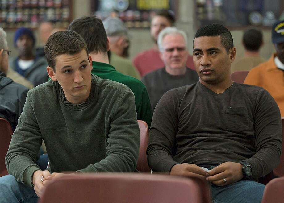 "Miles Teller and Beulah Koale play Iraq-War veterans seeking help in an overwhelmed Veterans Administration system in ""Thank You for Your Service."" Photo courtesy Universal Pictures. Photo: Universal Pictures"
