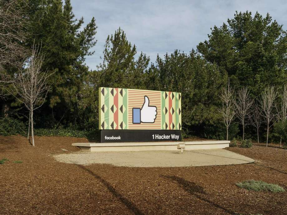 "A ""like"" sign near the entrance to offices for Facebook in Menlo Park, Calif., last year. Criticism of Facebook's influence on our society and, since the presidential election, our democracy is easy to come by. Photo: JASON HENRY /NYT / NYTNS"