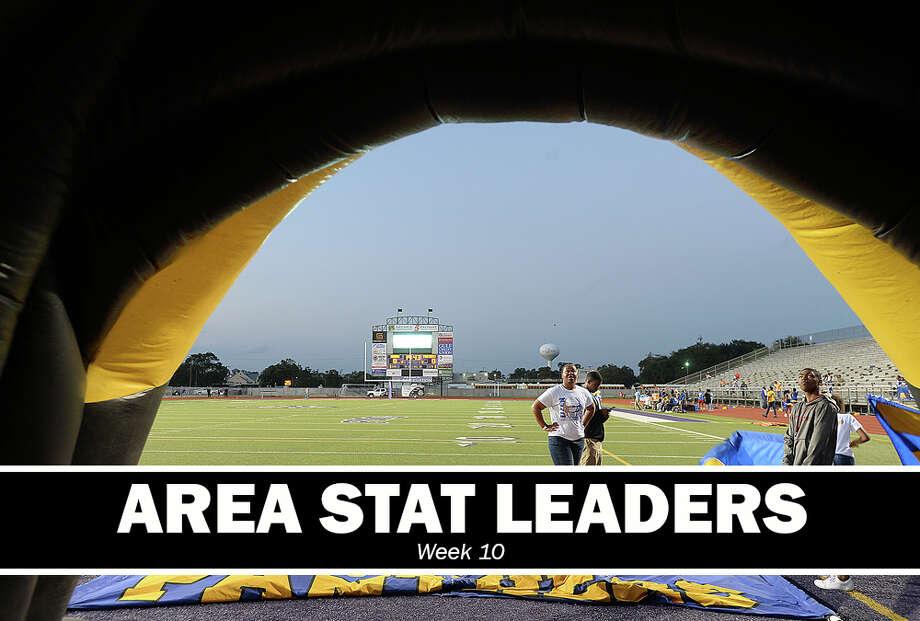 High School Football: Week 10 passing, rushing and receiving leaders.