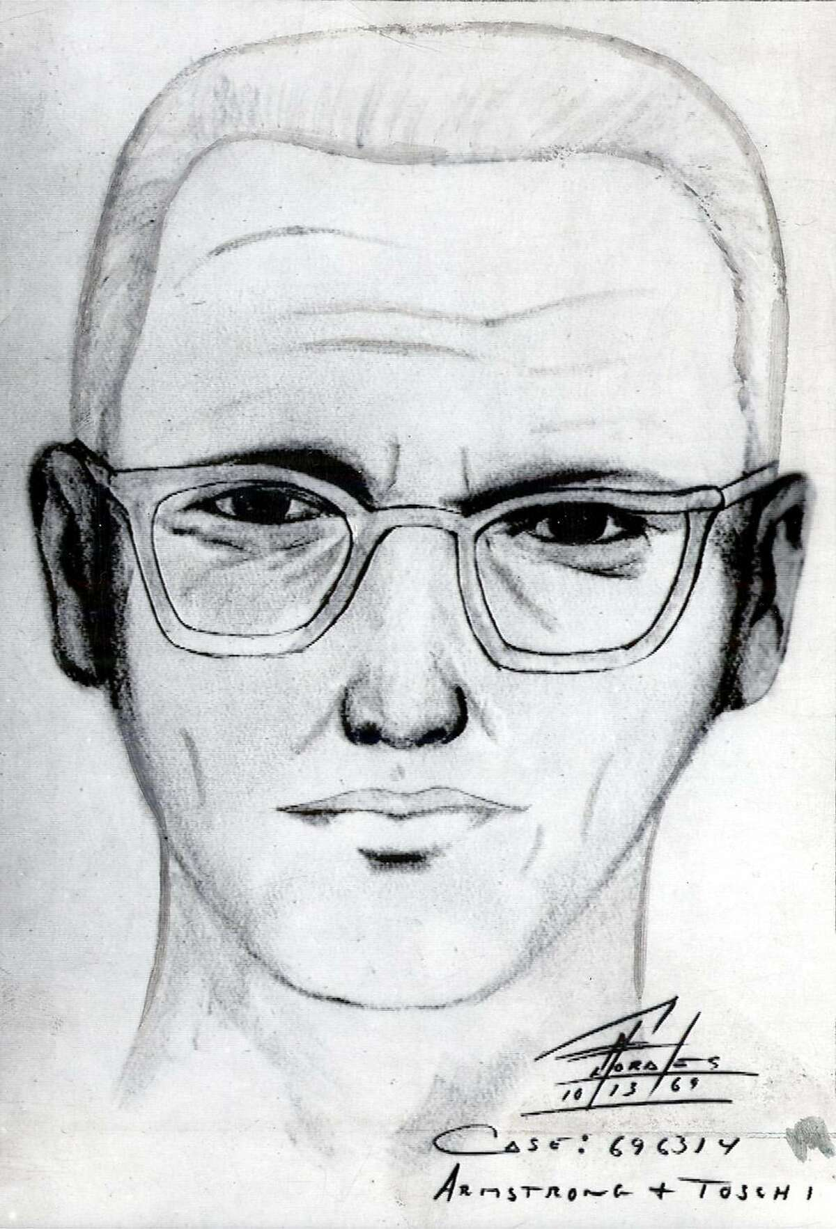 """Police sketch of the man suspected of being the """"Zodiac Killer"""" in 1969."""