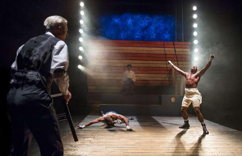 "Calvin M. Thompson (right) plays boxer Jay Jackson in ""The Royale."" Photo: David Allen, Aurora Theatre Company"