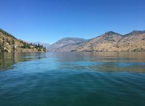 Lake Chelan is seen from 25-Mile Creek Campground in July 2017.