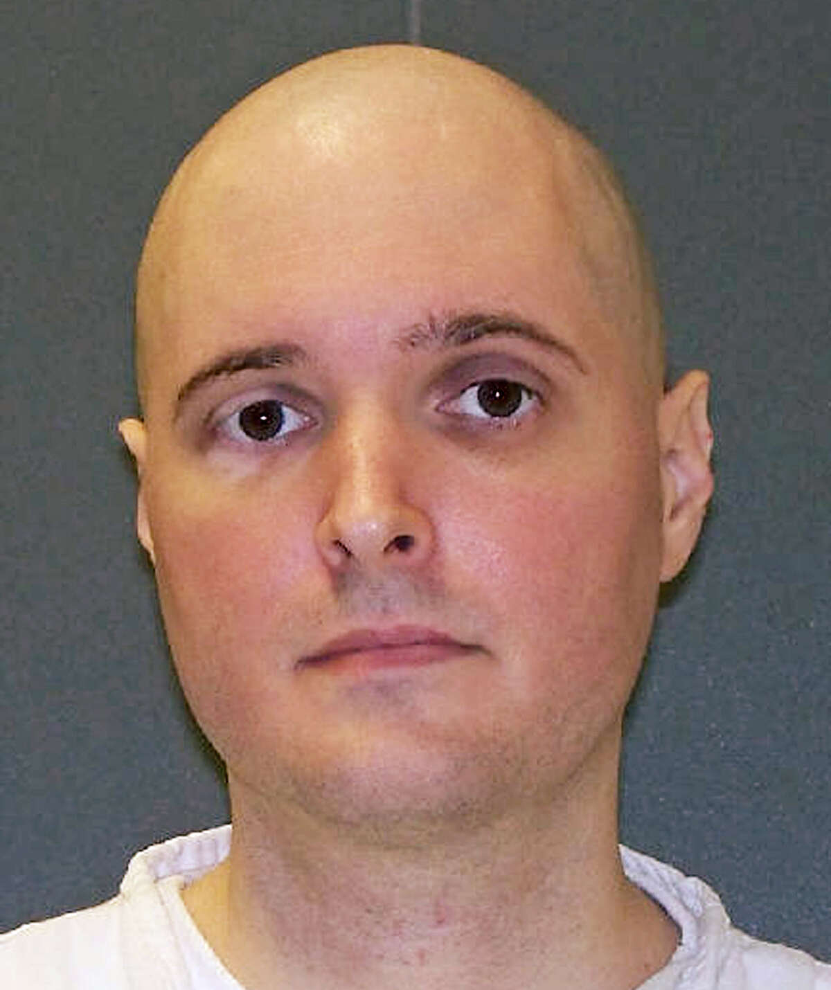 FILE - This undated FILE photo provided by the Texas Department of Criminal Justice shows death row inmate Thomas Whitaker. The U.S. Supreme Court on Tuesday, Oct. 10, 2017, Tuesday refused to consider an appeal from Whitaker, of suburban Houston, who arranged the killings of his mother and brother in 2003 so he could collect a $1 million inheritance. (Texas Department of Criminal Justice via AP, File)