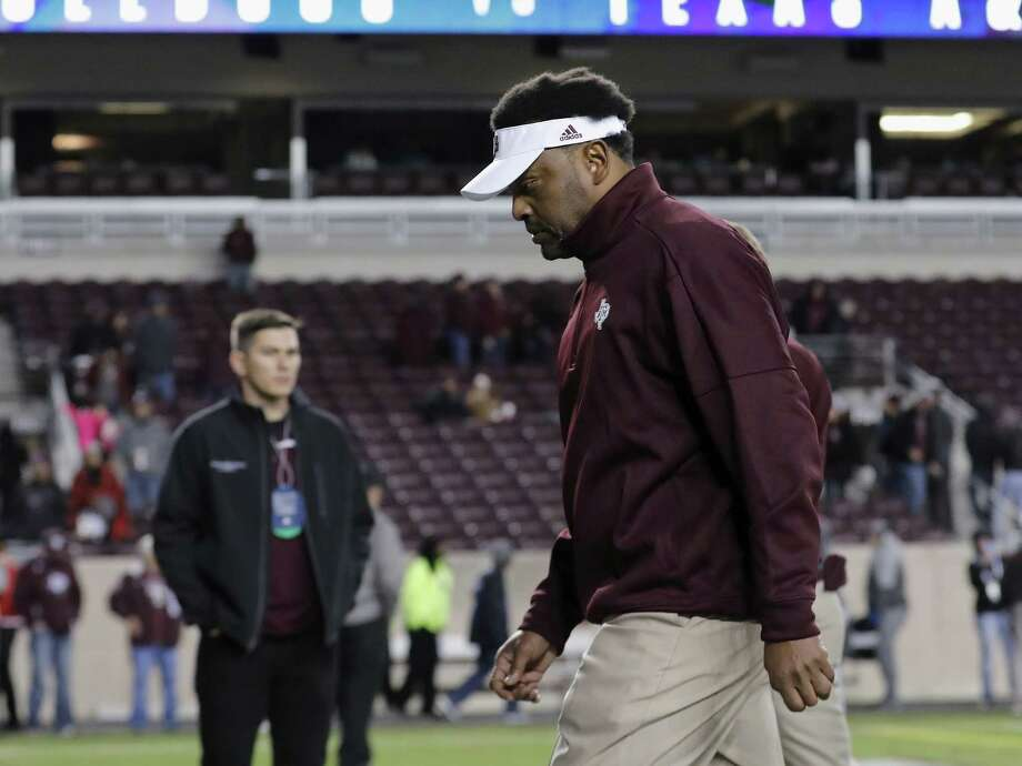 A 49-25 record during his six seasons at Texas A&M might not help coach Kevin Sumlin retain his job in the wake of an ongoing lack of success against SEC West teams. Photo: Tim Warner, Stringer / 2017 Getty Images