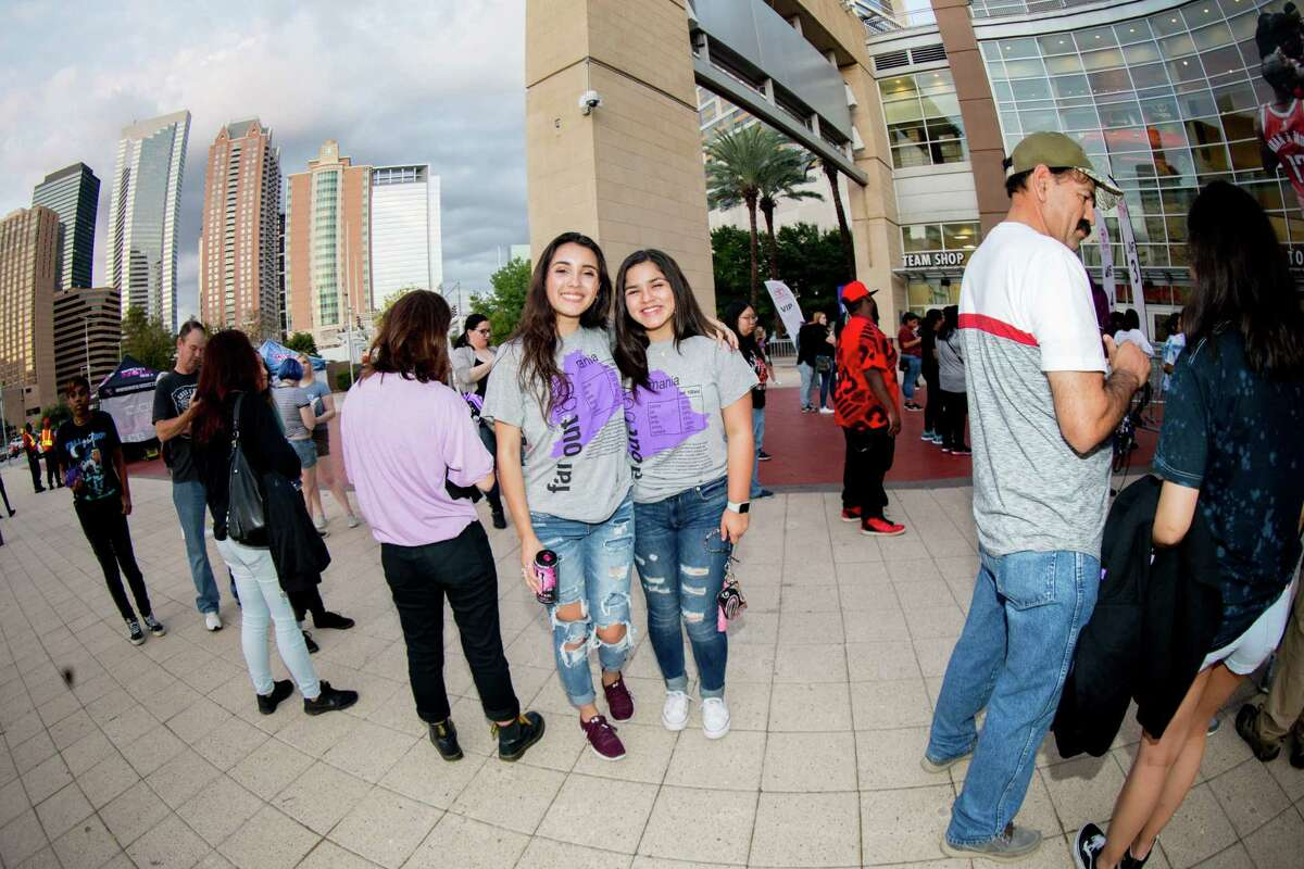 Fans pose for a photo while waiting in line during a Fall Out Boy concert at Toyota Center, Tuesday, November 7, 2017, in Houston. (Juan DeLeon/for the Houston Chronicle)