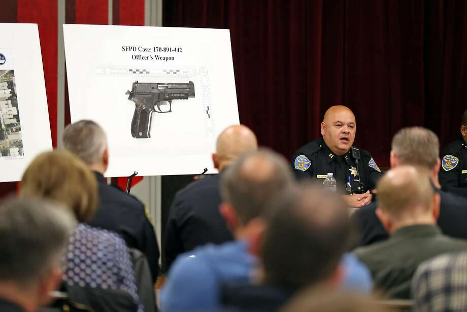 S.F. police Capt. Gaetano Caltagirone of Mission Station joined Police Chief Bill Scott for a town hall meeting in the Castro, scene of an officer-involved shooting on Halloween. Photo: Scott Strazzante, The Chronicle