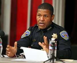 SFPD Chief William Scott during a SFPD town hall meeting that provided the community with an update on the investigation of the officer involved shooting that on Wednesday, November 1st. The town hall meeting wwas held at the Eureka Valley Recreation Center,San Francisco, Calif., on Tuesday, November 7, 2017.
