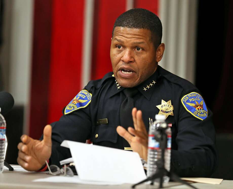 The police union president criticized SFPD Chief William Scott this week for firing an officer who fatally shot an unarmed carjacking suspect in December. Photo: Scott Strazzante, The Chronicle