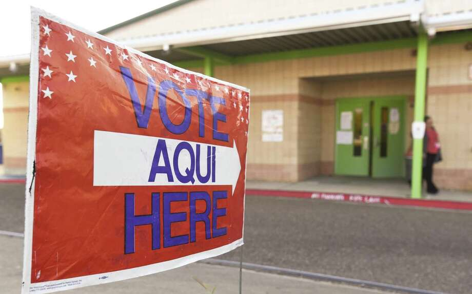 A voter exits the Don Jose Gallegos Elementary voting site on Thursday, Nov. 7, 2017. Photo: Danny Zaragoza /Laredo Morning Times / Laredo Morning Times