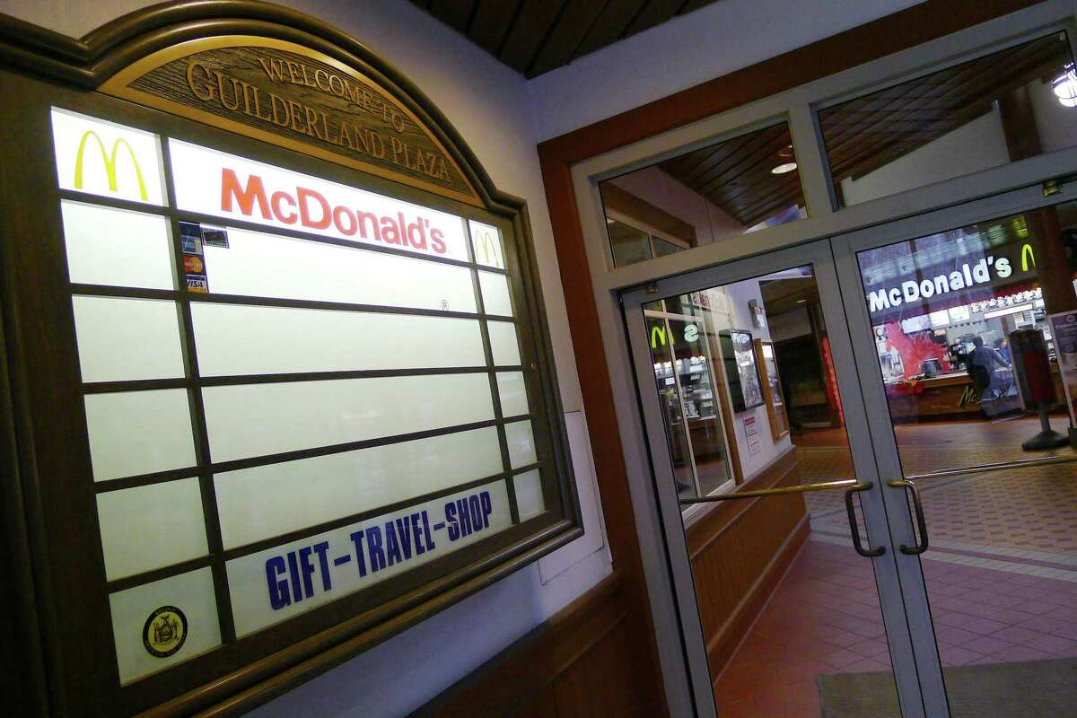 The McDonald's in the New York State Thruway Guilderland rest stop in Guilderland, New York Friday Jan.27, 2012.( Michael P. Farrell/Times Union)