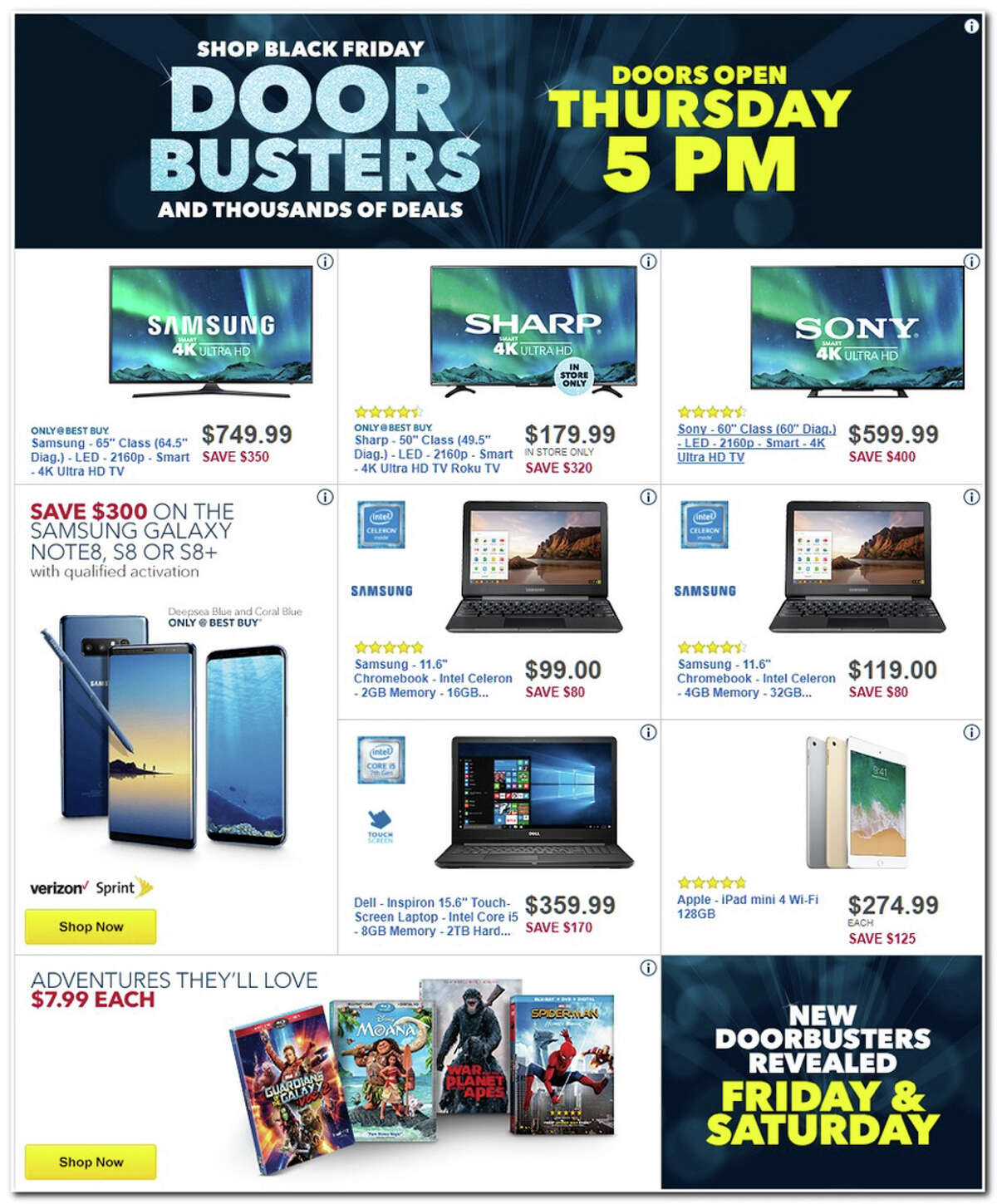 Best Buy released their 2017 Black Friday ad and over the circular's 50 pages are some of the hottest electronics deals of the year.