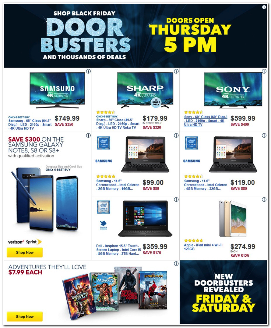 Best Buy Releases Their 2017 Black Friday Ad See All 50