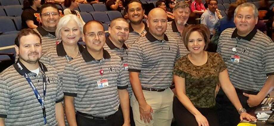 In this undated photo, LISD's Instructional Television team works an event at the Jesus Martinez Performing Arts Complex. Photo: Courtesy