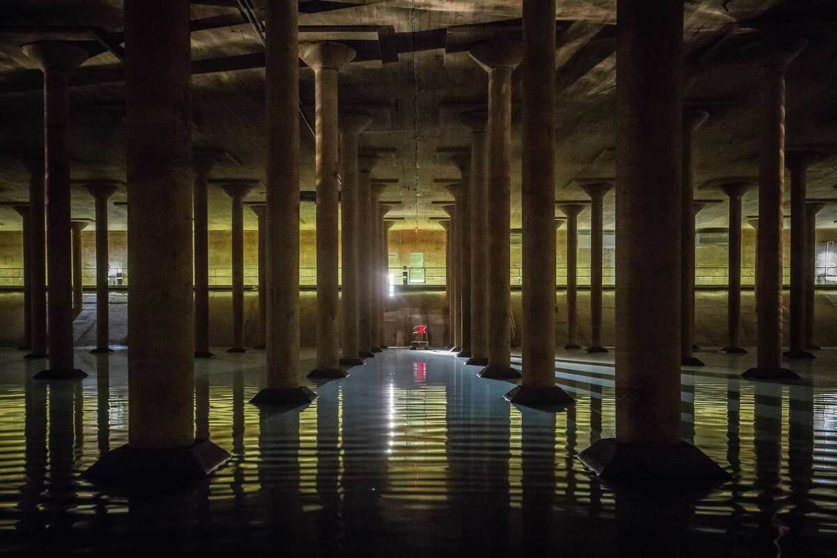 Buffalo Bayou Cistern Go see a new art installation inside this underground beauty. Don't worry, it's not that hot during the summer. The Water Works park just above it is worth a visit too.