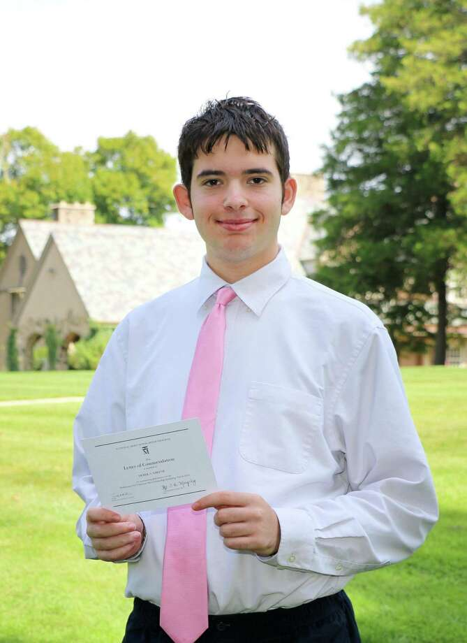 Glenholme School in Washington has announced that Derek Greene is named a Commended Student in the 2018 National Merit Scholarship Program. Photo: Contributed Photo / Contributed Photo / The News-Times Contributed