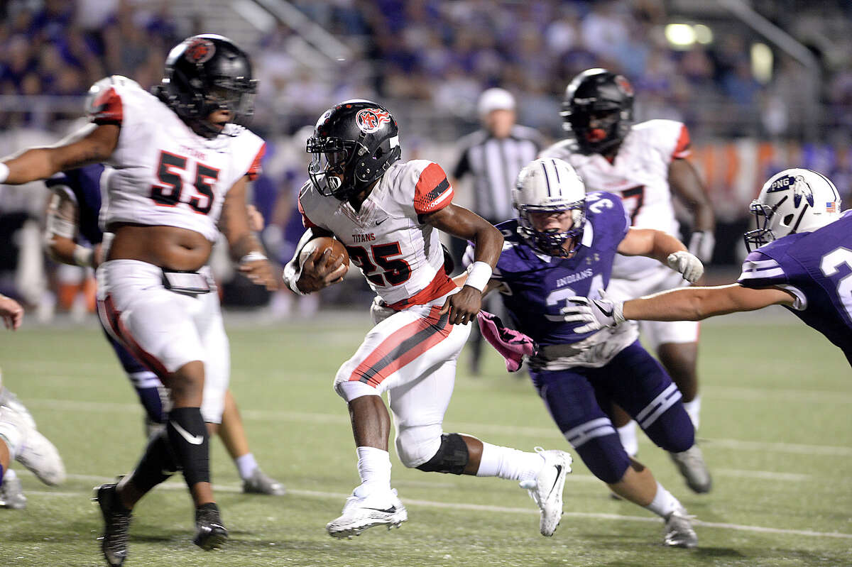 Elijah Hines School: Port Arthur Memorial Position: RB Notes: Hines is the area's best running back going against the area's best rushing attack in Vidor. The Titans are looking forward to revenge after losing to the Pirates last season and Hines will be a catalyst.