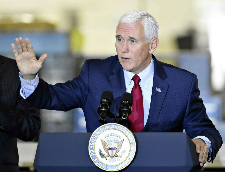 U.S. Vice President Mike Pence speaks during a visit to Military & Commercial Fasteners Corporation in Manchester Township Pa. Saturday Nov. 4 2017