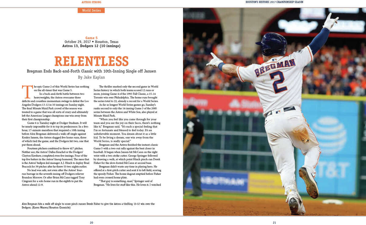 INSIDE FEATURE: For the baseball fan looking to remember the Houston Astros' World Series season with the ultimate keepsake, the Houston Chronicle has debuted its latest book,