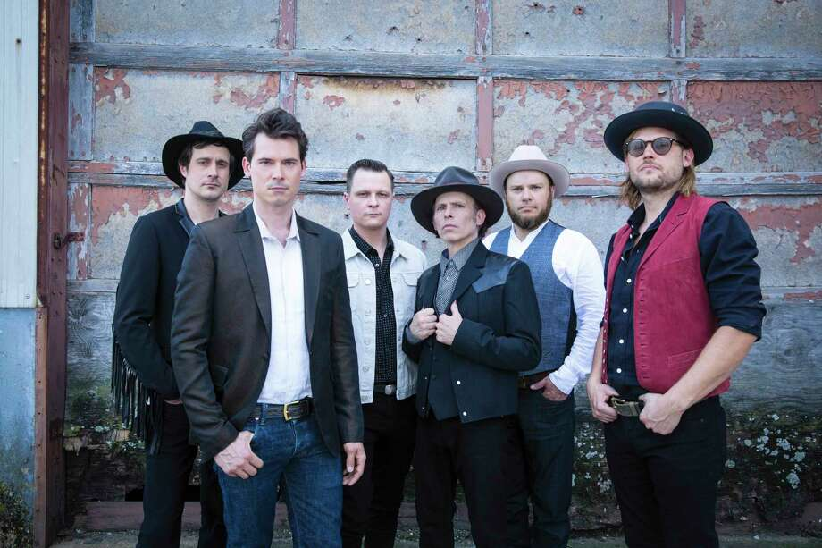 String band Old Crow Medicine show led by singer and fiddler Ketch Secor (foreground) Photo: Danny Clinch