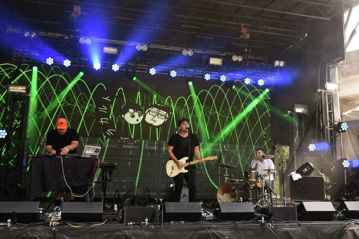 Camera Cult performs on the Mercury Stage at Free Press Summer Fest in Houston TX on Saturday June 3, 2017