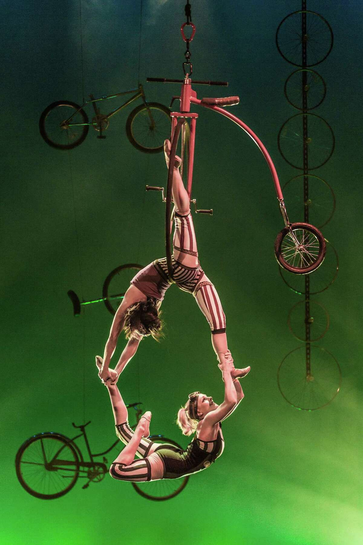 "Cirque Mechanics brings its ""Pedal Punk"" show to Miller Outdoor Theatre at 7:30 p.m. Nov. 10."