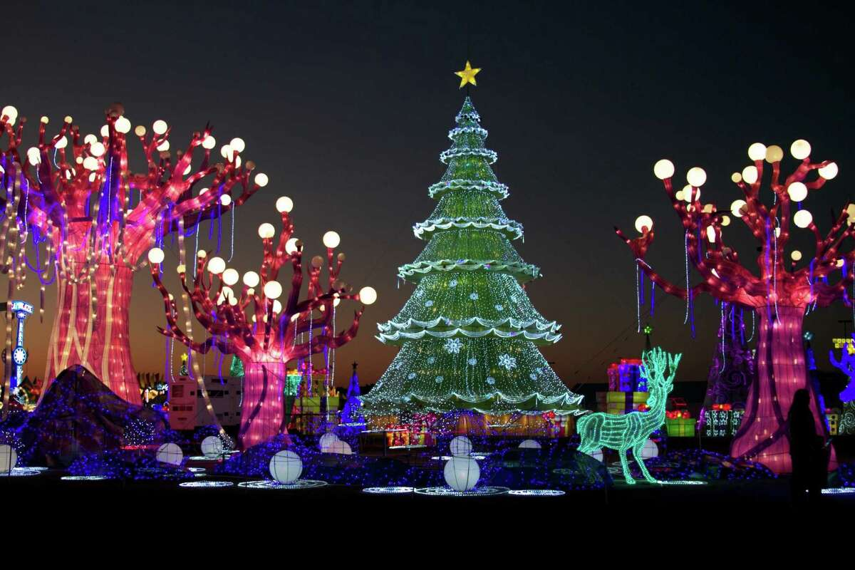 A light show and display from Magical Winter Lights.