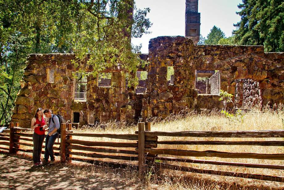 The ruins of Wolf House, designed as a 26-room mansion, are one of the attractions at the Jack London State Historic Park. Photo: John Storey, Special To The Chronicle