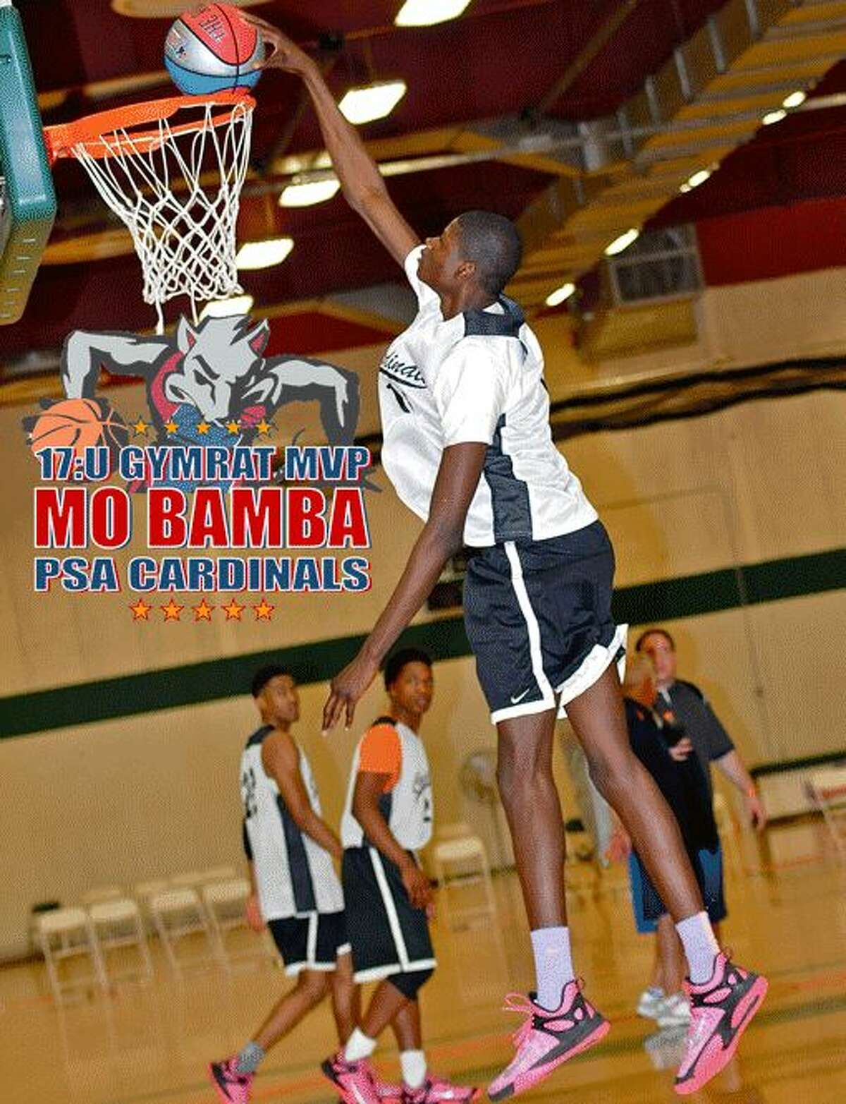 Mo Bamba, now with the University at Texas, when he played in the GymRat Challenge in 2015.