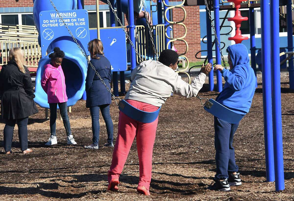 Kids play during recess at Blue Creek Elementary School on Wednesday, Nov. 8, 2017 in Latham, N.Y. (Lori Van Buren / Times Union)