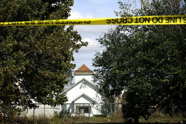 First Baptist Church in Sutherland Springs, Texas, scene of the worst mass shooting in Texas.
