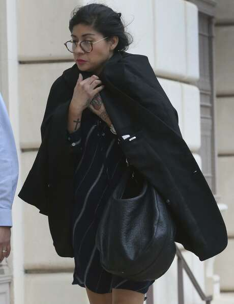 A Cameron County jury on Wednesday found Denise Cantu, 38, of Harlingen, not guilty of aggravated assault. She was the government's star witness in the criminal trial of state Sen. Carlos Uresti. She is pictured in November before testifying in bankruptcy court. Photo: John Davenport /San Antonio Express-News / ©John Davenport/San Antonio Express-News