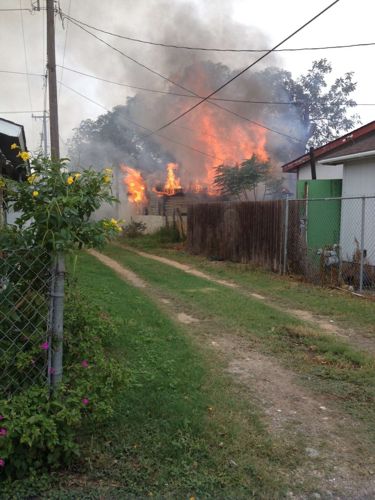 San Antonio firefighters responded to a structure fire in the 2900 block of West Gerald Avenue on Nov. 8, 2017.