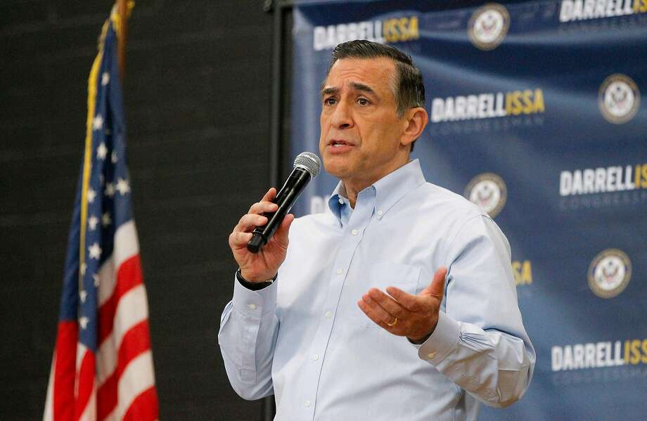 U.S. Rep. Darrell Issa speaks to constituents during a town hall meeting on March 11, 2017, at the Junior Seau Beach Community Center in Oceanside, Calif. (Hayne Palmour IV/San Diego Union-Tribune/TNS) Photo: Hayne Palmour IV, TNS