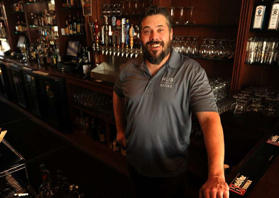 Bar manager Jeff Hodson specializes in craft cocktails and craft beers at the Hub & Spoke restaurant/bar at 3001 Fairfield Avenue in the Black Rock section of Bridgeport, Conn. on Wednesday, October 19, 2016. Photo: Brian A. Pounds / Hearst Connecticut Media / Connecticut Post