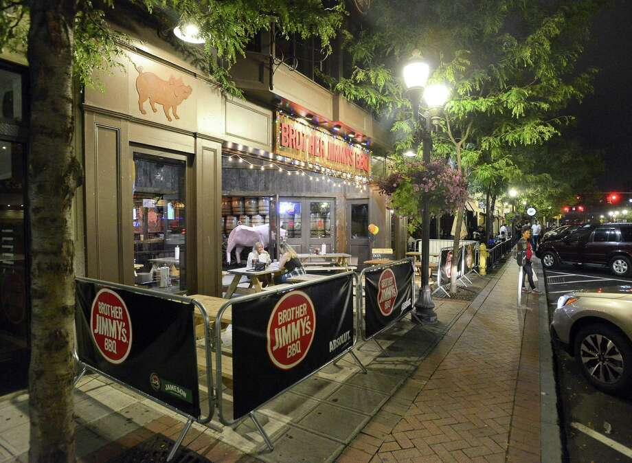 An exterior view of Brother Jimmy's BBQ on Bedford Street in Stamford, Connecticut on Tuesday, August 15, 2017. Photo: Matthew Brown / Hearst Connecticut Media / Stamford Advocate