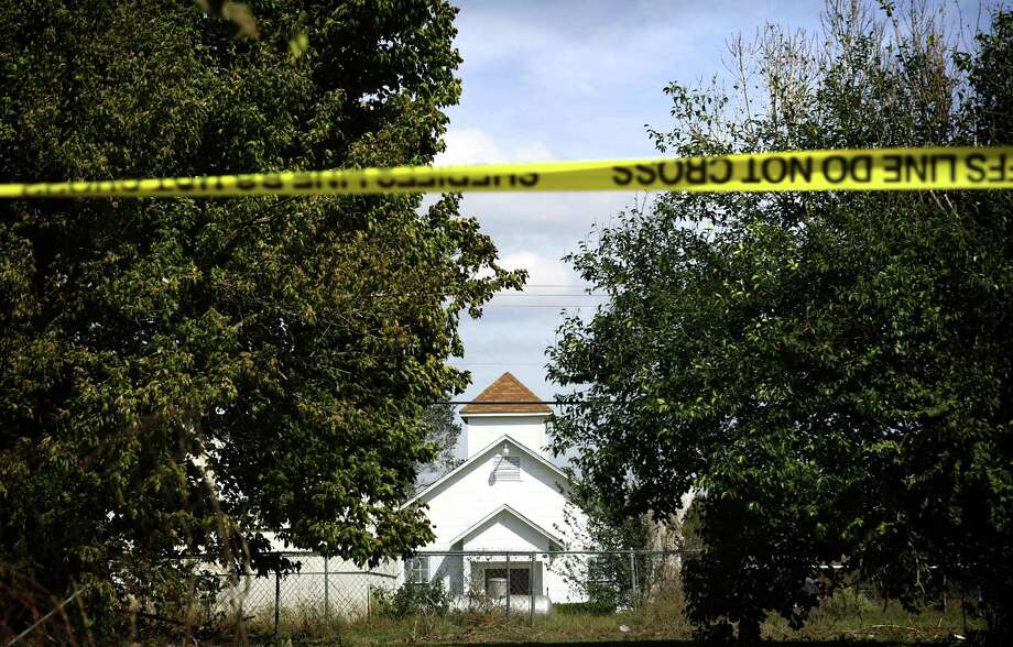 First Baptist Church in Sutherland Springs, Texas, where 26 people were killed Sunday. A Rackspace employee was among the 20 people injured in the shooting. Photo: Bob Owen /San Antonio Express-News / ©2017 San Antonio Express-News