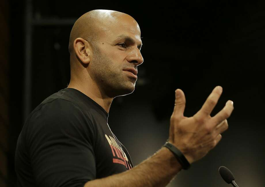 San Francisco 49ers defensive coordinator Robert Saleh speaks at a news conference after the team's organized team activity at its NFL football training facility in Santa Clara, Calif., Wednesday, May 31, 2017. (AP Photo/Jeff Chiu) Photo: Jeff Chiu, AP