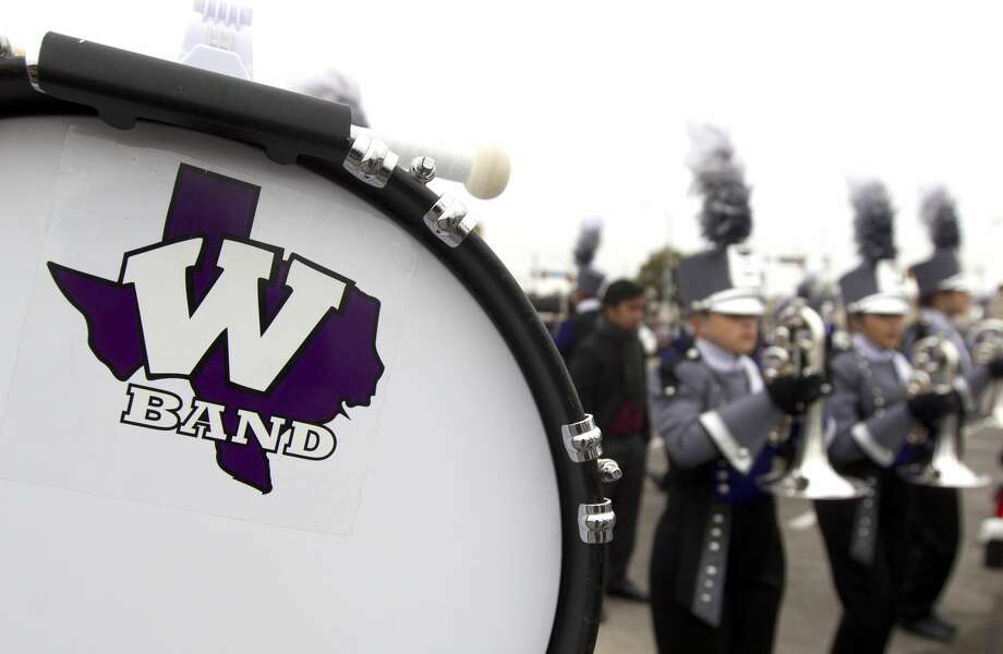 Willis High School band members warm up before the UIL Marching Band State Championships at the Alamodome, Wednesday, Nov. 8, 2017, in San Antonio. Photo: Jason Fochtman/Houston Chronicle
