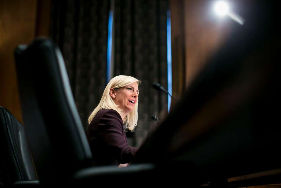 """Kirstjen Nielsen, President Trump's pick to lead the Department of Homeland Security, said she is """"not prepared to determine causation"""" on global warming. Photo: AL DRAGO, NYT"""